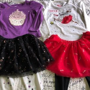Two Epic Threads Tutu outfits 2T